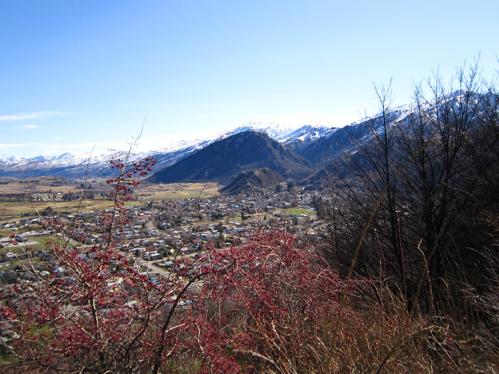 Arrowtown from Tobins Track 3 | View of Arrowtown from the T