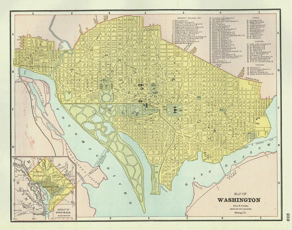Washington, DC Street Map, 1888   tdalemapco   Flickr on