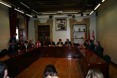 En el salón de plenos de la Casa Consistorial en el cierre de las jornadas Watch it con Jordi Sevilla