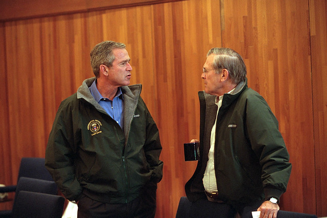 911: President George W. Bush at Camp David, 09/15/2001.