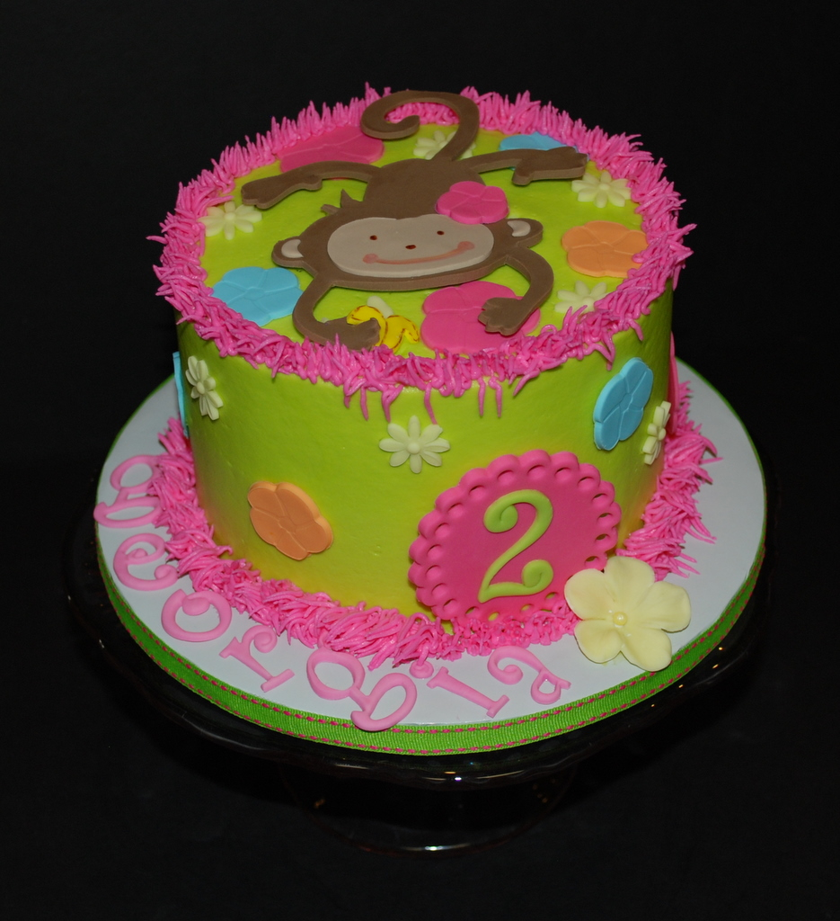 Super Monkey Luau Birthday Cake Birthday Cake For A Monkey Luau Flickr Funny Birthday Cards Online Elaedamsfinfo