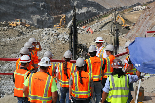 Construction and engineering students visit the Folsom spillway job site | by USACE HQ