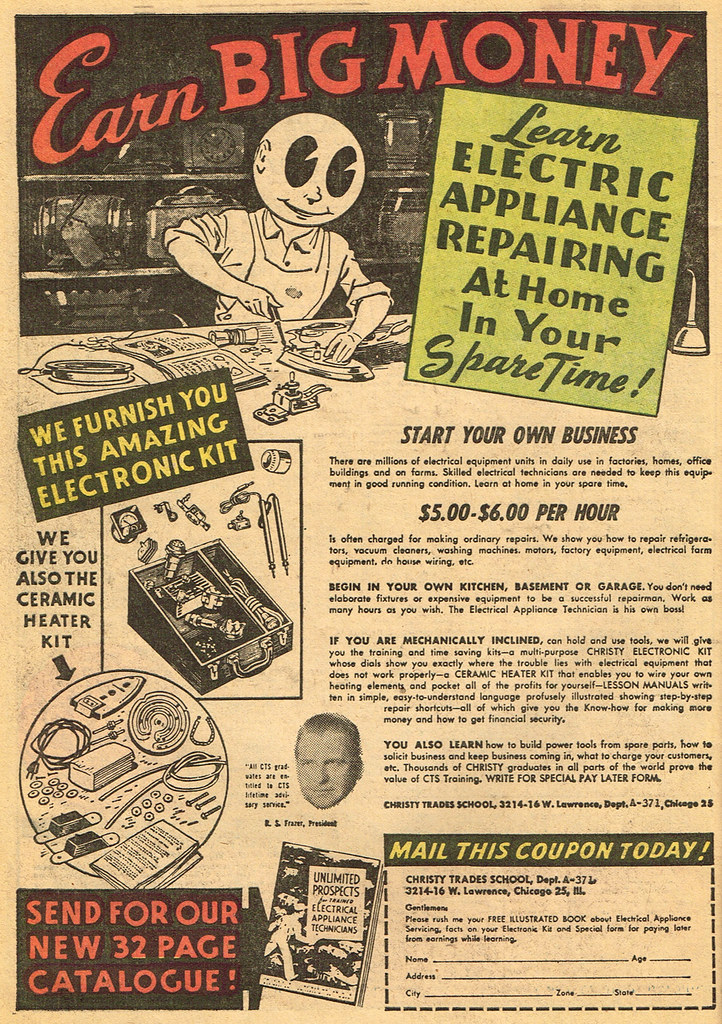 Vintage Ad 1 638 Earn Big Money And Grow Pac Man Eyes Flickr