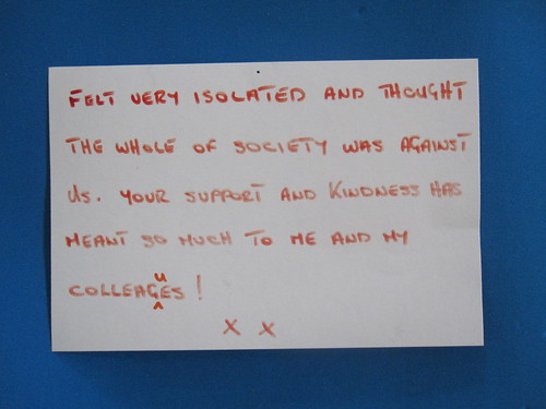 Heartfelt messages of thanks from the police we've helped
