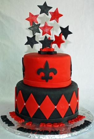 Marvelous Fleur De Lys Tiered Birthday Cake Jeanne Flickr Funny Birthday Cards Online Inifofree Goldxyz