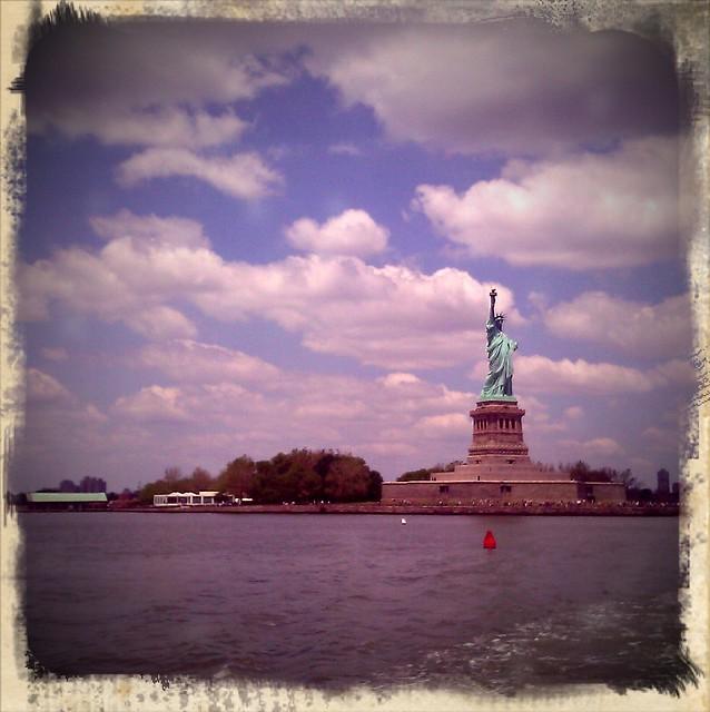 Statue of Liberty with Retro Camera App