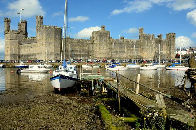 Caernarfon Castle Over The Estuary ..