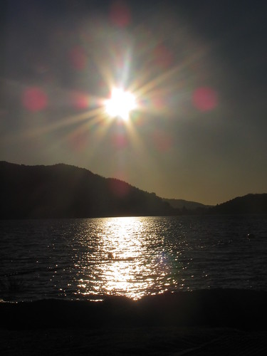 new sunset newzealand sun lake water island rotorua north zealand northisland bop freshwater senic whakatane rotoma