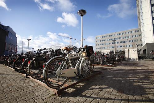 Makkelijk je fiets kwijt in een fietsrek
