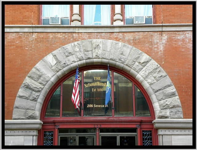 Oil City PA ~ National Trust Building ~ Arch Above the Main Entrance