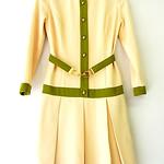 イギリス製 エレガント  プリーツスカート ワンピース:古着 10PO39