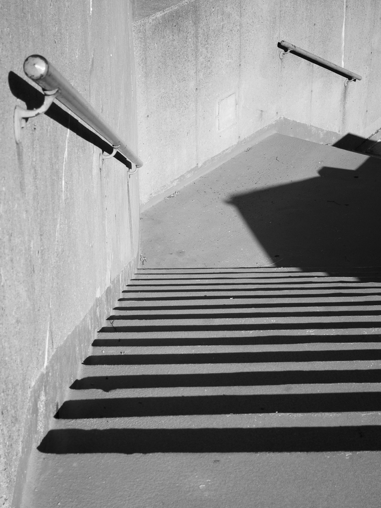 Concrete Stairs | next to a parking garage near the ...