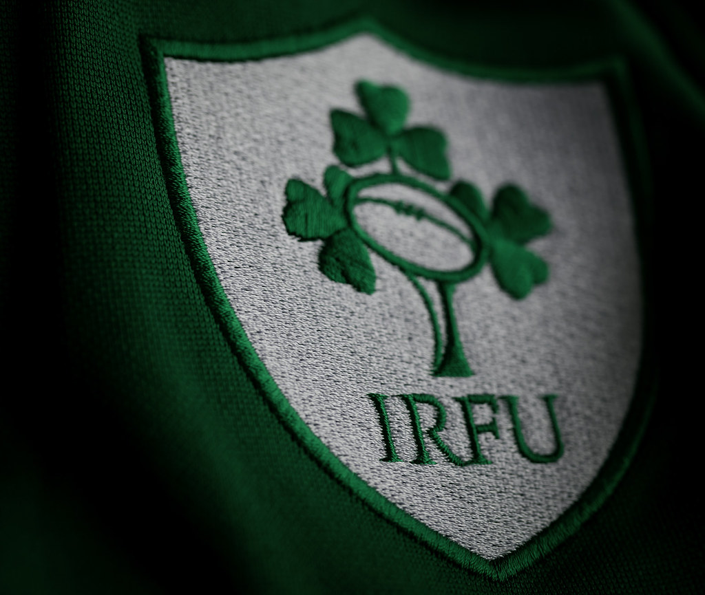Irish Rugby | IRFU logo from my replica Irish rugby jersey