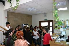 Dentro de La Casa de la Mujer varias concejalas del PSOE
