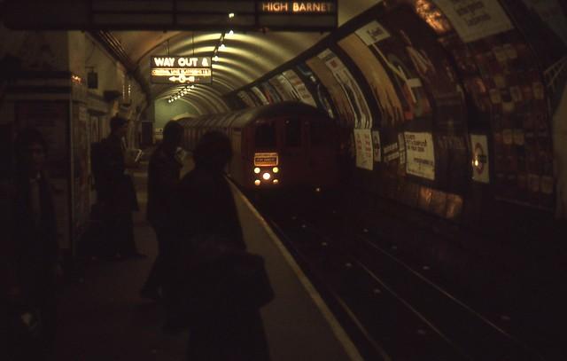 England 1969 - London, Underground Station - Tottenham Court Road station, northbound Northern Line platform