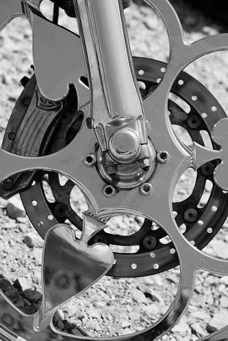Shiny Chrome Wheel by Noel C. Hankamer