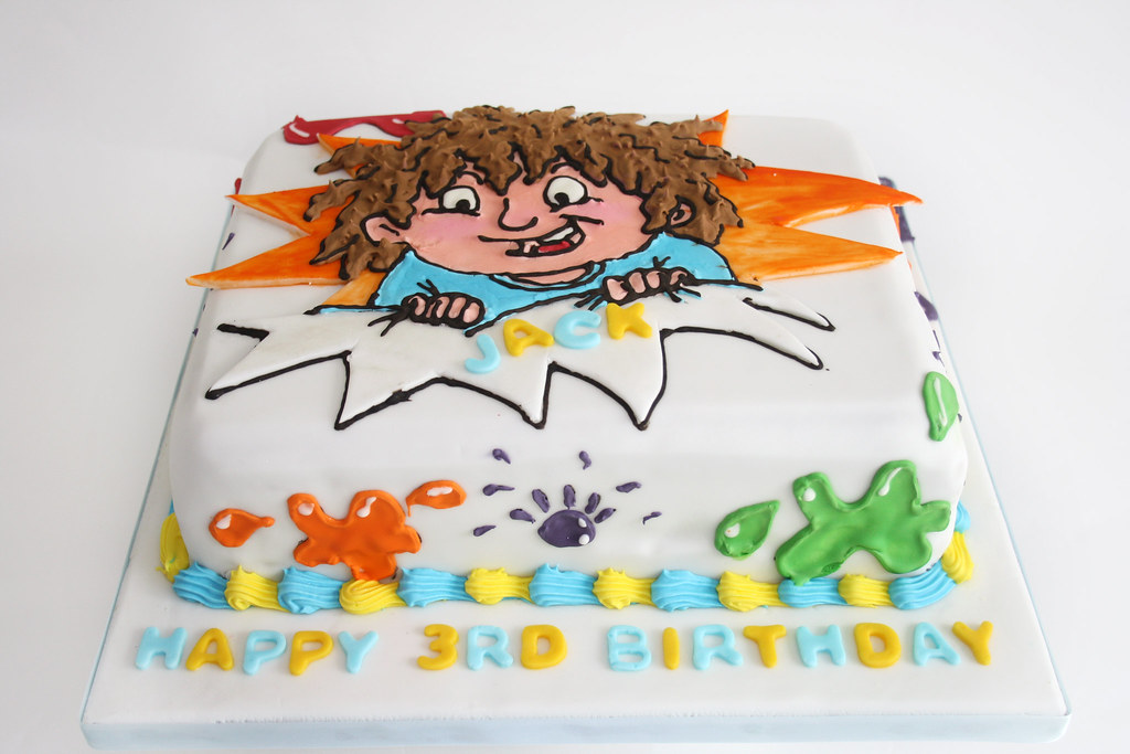Horrid Henry Theme Birthday Cake