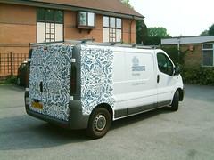 Half wrapped van