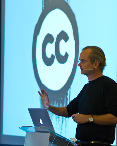 Larry Lessig giving #ccsummit2011 keynote | by DTKindler Photo