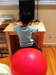Balance ball fun | by Kei!