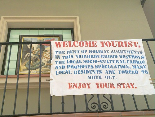 Outcry against speculation tourism in Barceloneta