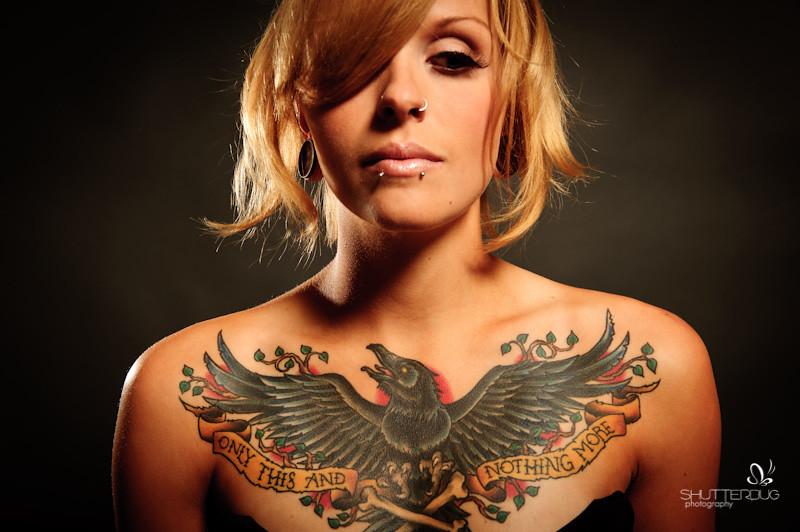 Raven Tattoo Design That I Did For A Chest Tattoo Derrick