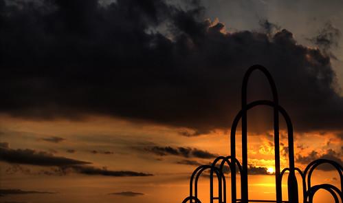 sunset sky sun clouds photoshop canon paper rouge la pier photo dynamic clips baton hdr cs5 60d