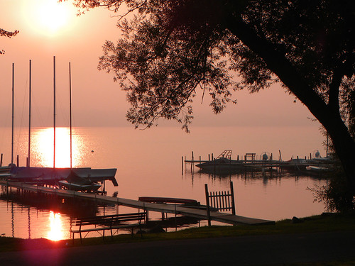 morning pink sky sun lake color nature colors sunrise boats dawn nikon outdoor chautauqua coolpixp500