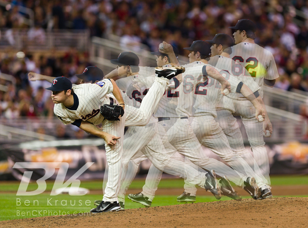 Minnesota Twins Liam Hendriks MLB Debut, September 6, 2011