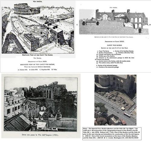 Roma, I Fori Imperiali / Colle Velia: Scavi archeologici, sterri e demolizioni per l'apertura di via dell'Impero (1928-1933).