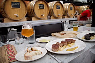 beer and sausage @ birreria | by p.lu