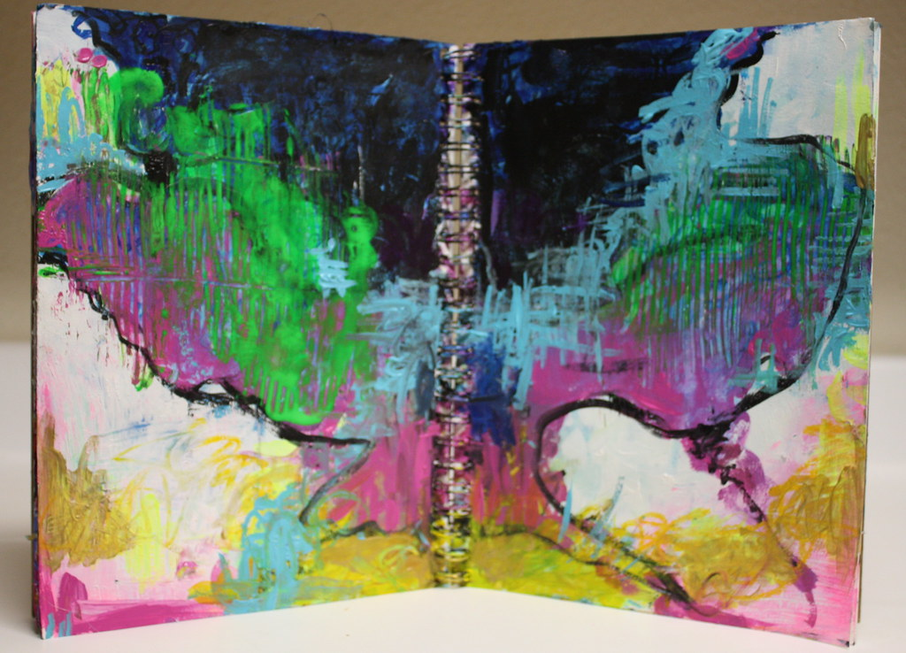 Let N Loose Again Acrylic And Oil Pastel In Art Journal