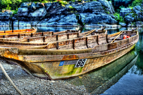 old japanese wooden boat. | by Bookriver.