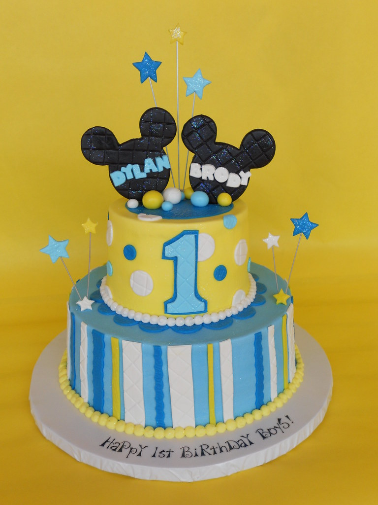 Wondrous Baby Mickey 1St Birthday Cake A Photo On Flickriver Funny Birthday Cards Online Alyptdamsfinfo
