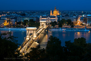 Chain Bridge + Cathedral - Budapest, Hungary | by www.caseyhphoto.com