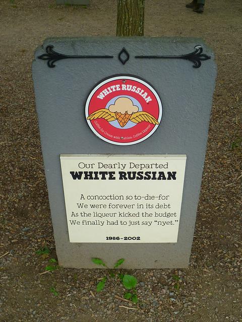 Ben & Jerry's Flavor Graveyard: White Russian