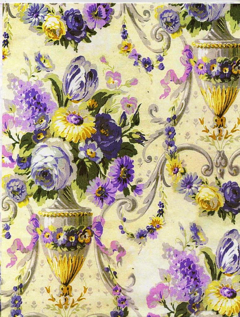 Victorian Vase And Floral Wallpaper Color Restoration By T Flickr