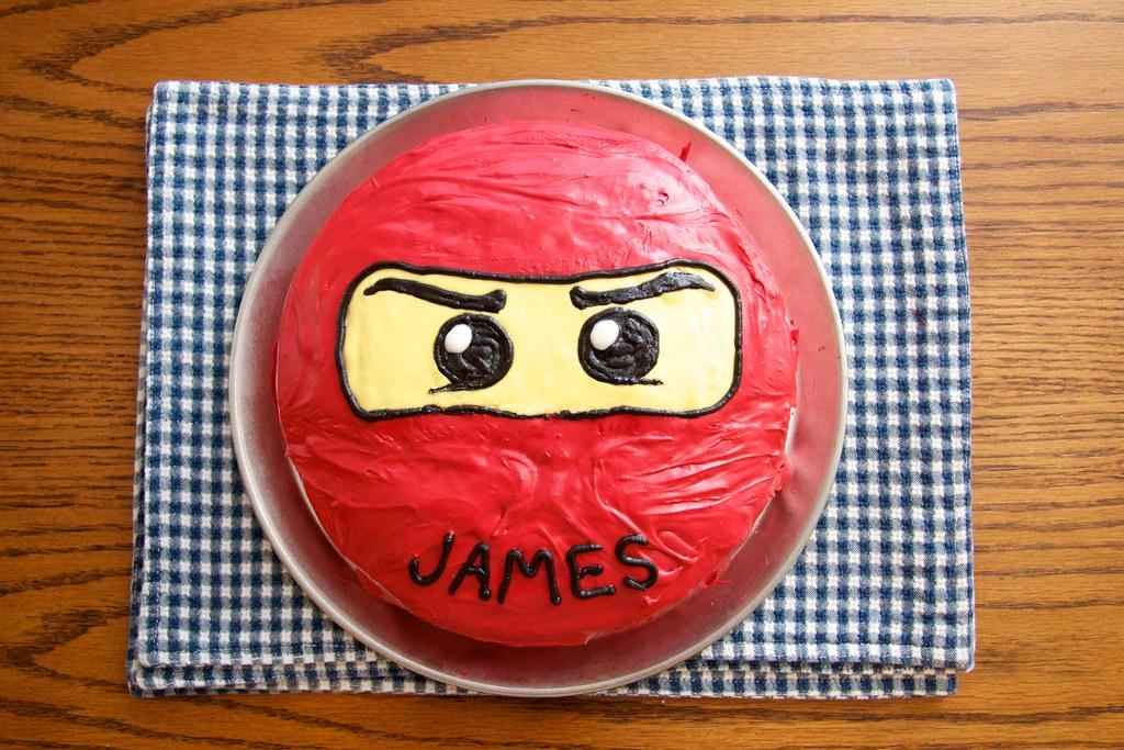 Strange Jamess Ninjago Birthday Cake Jay Parker Flickr Funny Birthday Cards Online Alyptdamsfinfo