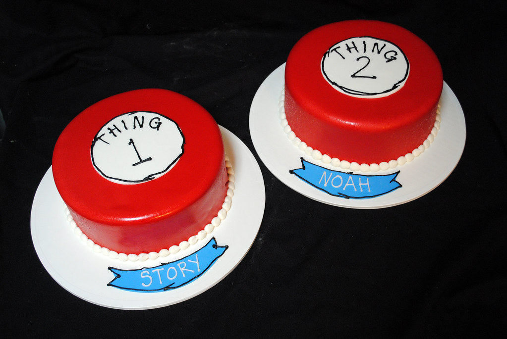 Superb Thing 1 And Thing 2 Birthday Cakes Ben Pleiss Flickr Funny Birthday Cards Online Necthendildamsfinfo