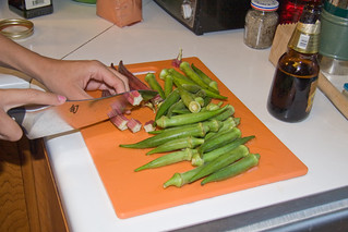 Slicing Okra | by Lucky Mike Rocks