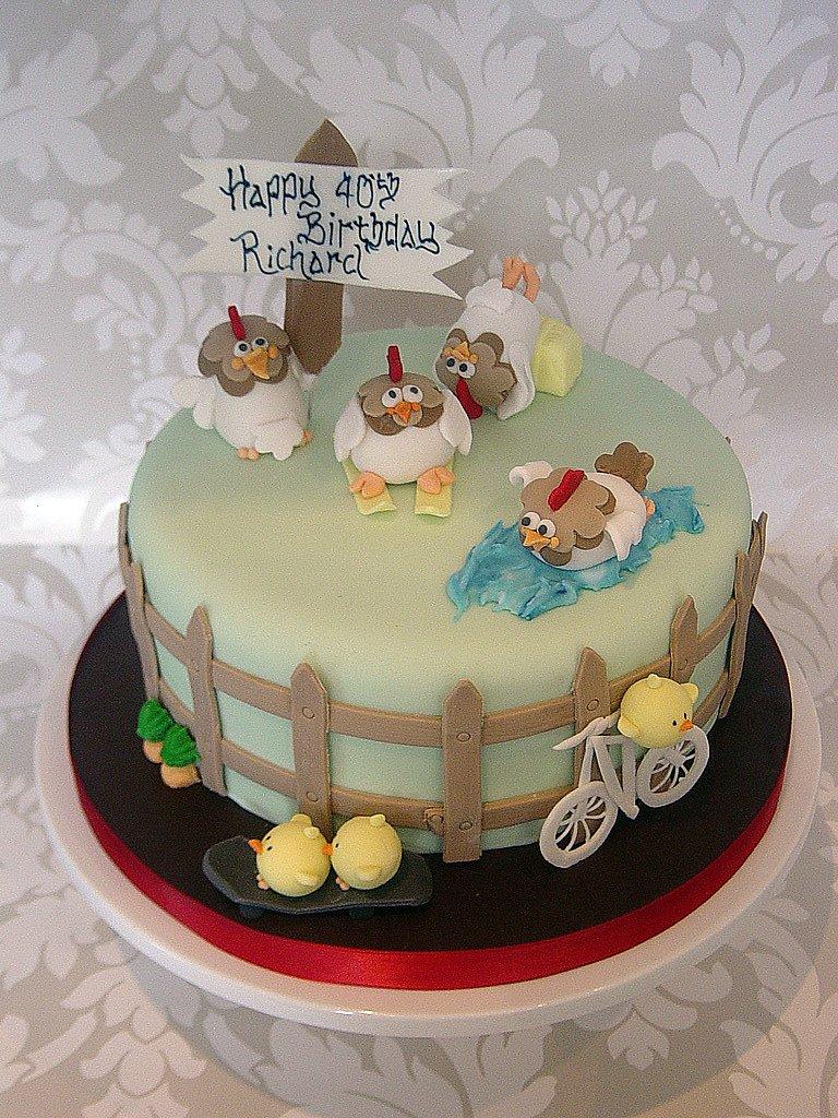 Pleasing Chicken Birthday Cake A Multi Themed Chicken Birthday Cake Flickr Birthday Cards Printable Inklcafe Filternl