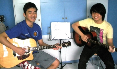 Private guitar lessons Singapore Desmond