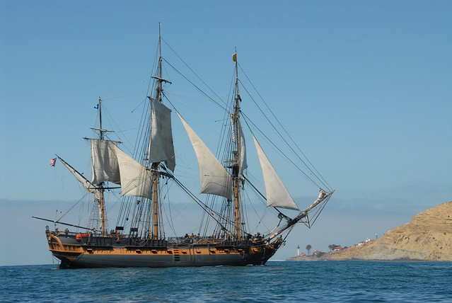 Tall Ships Parade in San Diego Bay for Festival of Sail