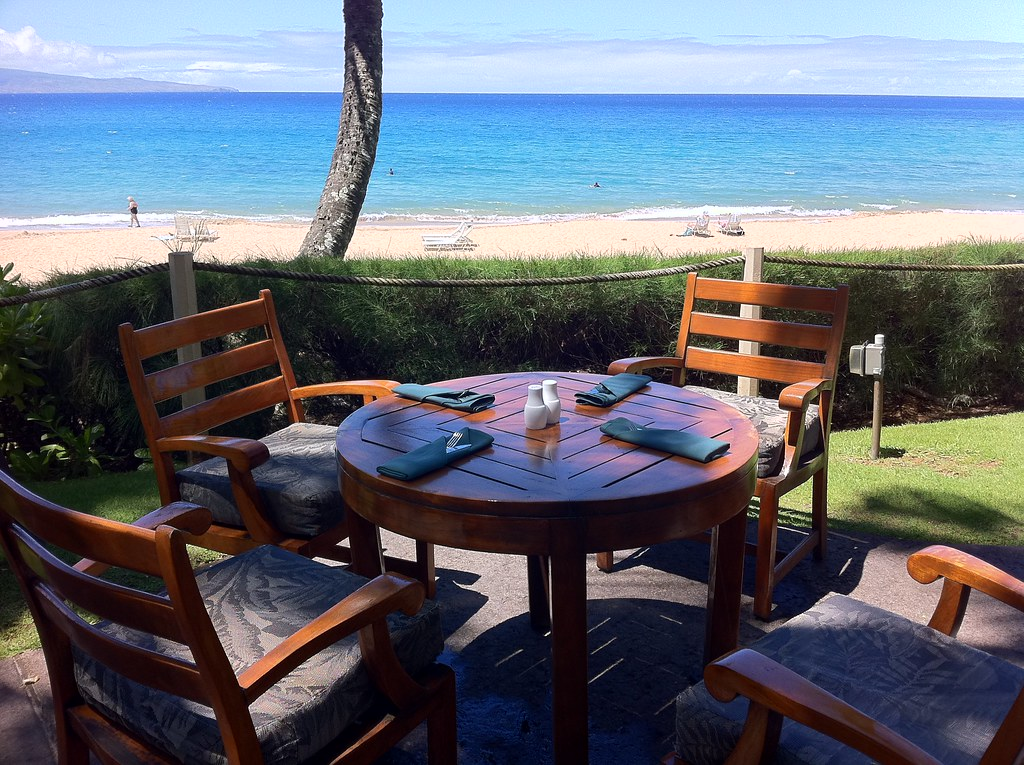 A Table At The Beach House Restaurant In Kapalua Maui Flickr