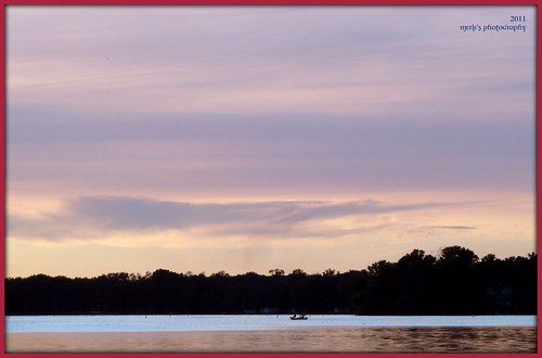 pink blue trees sunset sun lake nature water colors wisconsin clouds boat colorful purple violet 1001nights picnik waterscape boater waterscene 1001nightsmagiccity