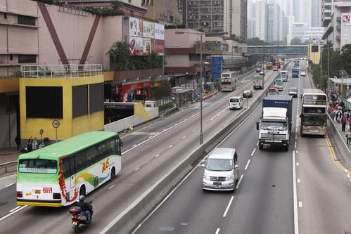 Lung Cheung Road in Wong Tai Sin, Hong Kong