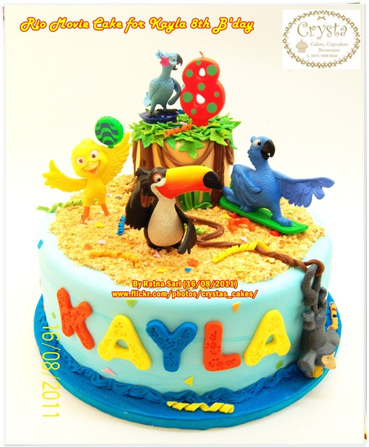 Rio Movie Cake for Kayla 8th B'day