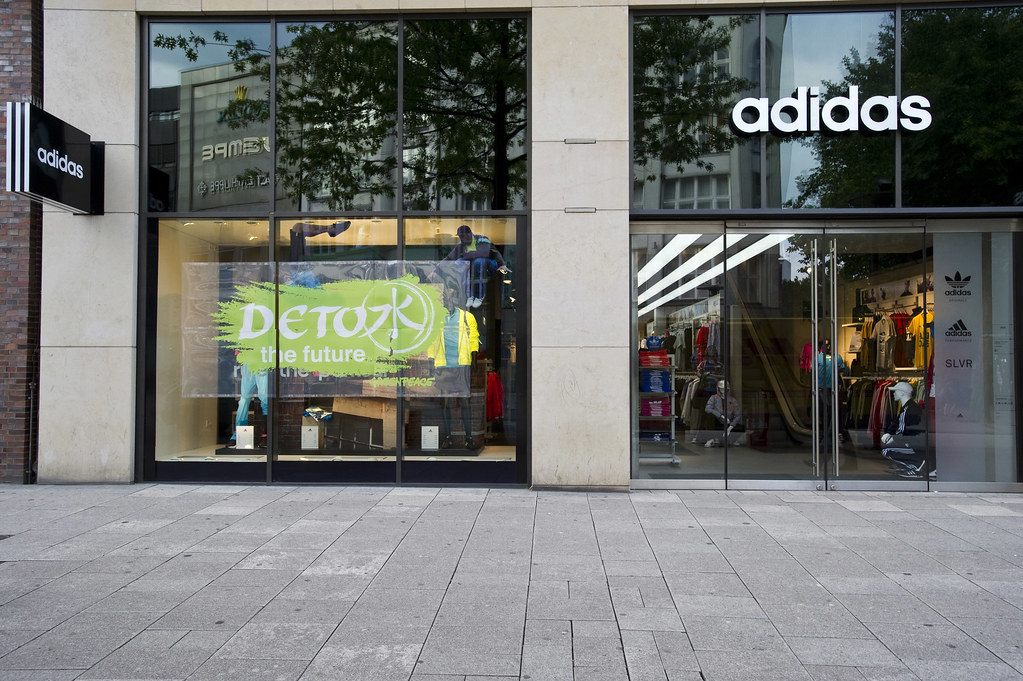 Hamburg Adidas Store - rebranded | Nike has committed to cha ...