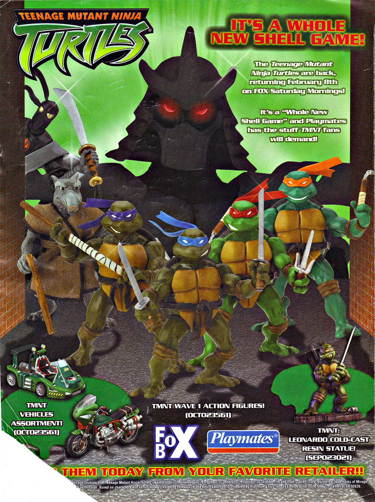 "PLAYMATES TOYS :: TEENAGE MUTANT NINJA TURTLES ; "" IT'S A WHOLE NEW SHELL GAME!"" (( 2003 )) by tOkKa"