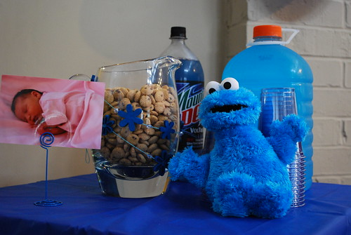 Pitcher of cookies, cups, and blue drinks | by twentysixcats